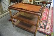 Sale 8338 - Lot 1417 - Antique Three Tier Tea Trolley with Serving Tray