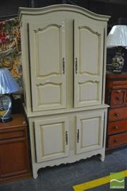 Sale 8409 - Lot 1697 - French Provincial Style White Buffet