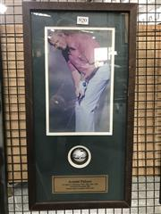 Sale 8805A - Lot 820 - Arnold Palmer Golf Ball, signed & framed