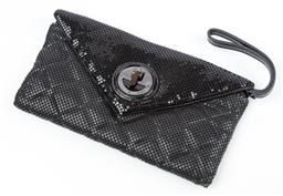 Sale 9092F - Lot 49 - A MIMCO GLOMESH; envelope clutch in black with dust bag