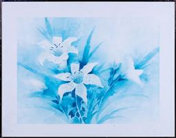 Sale 9190H - Lot 373 - donnah benevan, Print of lillies 56cm x 72cm together with other prints