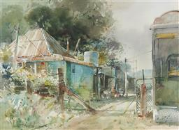 Sale 9184A - Lot 5023 - HELEN GOLDSMITH (1937 - ) Old Part of Town watercolour 43 x 59 cm (frame: 68 x 84 x 3 cm) signed lower lef t