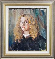 Sale 8334 - Lot 579 - Norman Lindsay (1879 - 1969) - Young Lady With Golden Locks 47.5 x 40.5cm