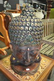 Sale 8175 - Lot 1041 - Buddha Face On Stand (50cm)