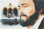 Sale 8548 - Lot 2043 - Allan Waite (1924 - 2010) - The Tenor Pavarotti 35 x 53cm