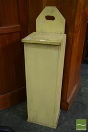 Sale 8550 - Lot 1237 - Painted Pine French Baguette Bin