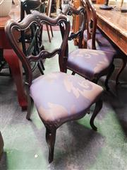 Sale 8669 - Lot 1073 - Two Pairs of Victorian Dining Chairs (4)
