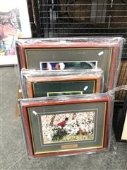 Sale 8797 - Lot 2110 - Collection of Framed Pictures of Australian Sporting Stars