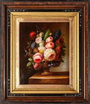 Sale 9083N - Lot 95 - After the original by Willem Van Aelst, Flemish still life, oil on panel 37 x 30cm details of the artist Roberto Cavalli verso.