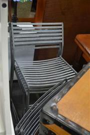 Sale 8054 - Lot 1054 - Set of 8 Metal Dining Chairs
