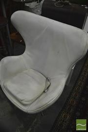 Sale 8326 - Lot 1306 - White Egg Chair