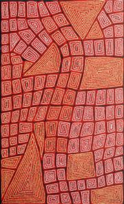Sale 8743 - Lot 570 - Thomas Tjapaltjarri (c1964 - ) - Tingari 147 x 90cm (stretched and ready to hang)