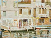 Sale 8781 - Lot 527 - Dale Marsh (1940 - ) - Canal Scene, Venice 29.5 x 39.5cm