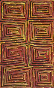 Sale 8862A - Lot 547 - Ronnie Tjampitjinpa (c1943 - ) - Fire Dreaming 92 x 57cm (stretched and ready to hang)