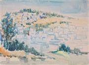 Sale 8891 - Lot 2057 - Samuel Zulkis (1914 - 1995) - Overlooking a Town 1963 33.5 x 47 cm