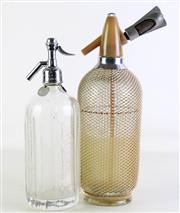 Sale 8940T - Lot 635 - Large soda syphon (H36cm) together with a Tooth & Co. limited example (H31cm)