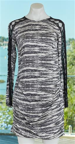 Sale 9120K - Lot 62 - A Manning Cartell silk open back tunic dress; with mesh details to sleeves, size 8