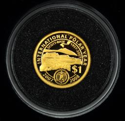 Sale 9164 - Lot 225 - A New Zealand mini gold proof coin commemorating the international polar year