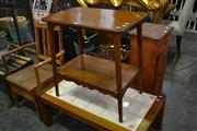 Sale 8115 - Lot 1080 - Tiered Timber Occasional Table