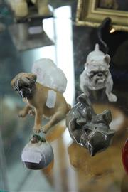Sale 8269 - Lot 47 - Royal Copenhagen Figure of a Dog with Others incl Bears & Frog