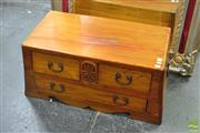 Sale 8328 - Lot 1057 - Small Oriental 3 Drawer Coffee Table