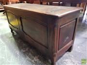 Sale 8500 - Lot 1080 - Antique French Walnut and Oak Coffer, with hinged top & shaped panels