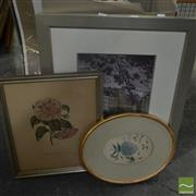Sale 8522 - Lot 2097 - Box of Various Artworks mostly Botanical colour lithographs (framed/various sizes)