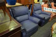 Sale 8566 - Lot 1544 - Pair of Moran Leather Armchairs