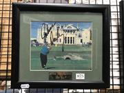 Sale 8805A - Lot 875 - John Daly, signed & framed