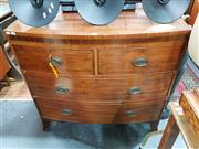 Sale 8834 - Lot 1068 - Georgian Mahogany and String Inlaid Bow Front Chest of Drawers