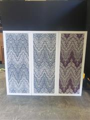 Sale 8951 - Lot 1011 - Collection of Three Decorative Framed Textiles (H: 150 x W: 60cm)