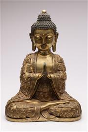 Sale 9070 - Lot 81 - A Bronze Buddha Figure decorated with multiple small buddha (H41cm)