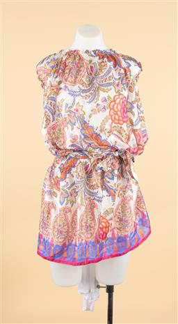 Sale 9250F - Lot 46 - A Max & Co off shoulder floral Feriale dress, as new with tags, size US 8.