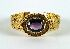 Sale 3701 - Lot 474A - AN 18CT YELLOW GOLD FLAT MESH AMETHYST AND DIAMOND BRACELET;