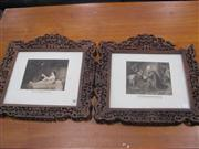 Sale 7944A - Lot 1022 - Pair of Religious Prints in Ornate Chinese Camphor Frames