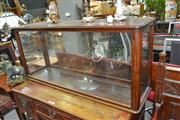 Sale 7997 - Lot 31 - A MUSEUM GRADE TIMBER AND GLASS DISPLAY CABINET