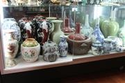 Sale 8100 - Lot 41 - Japanese Habachi with a Large Collection of Various Oriental Vases
