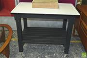 Sale 8310 - Lot 1018 - Enamel Top Kitchen Island on Castors