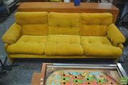 Sale 8310 - Lot 1057 - C&B Italia 3 Seater Coronado Lounge in Mustard by Tobia Scarpa