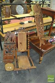 Sale 8338 - Lot 1148 - Pair of East African Chairs with European Example