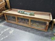 Sale 8532 - Lot 1006 - Timber Bar Unit Top with Leadlight Glass