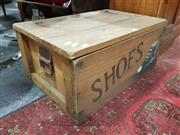 Sale 8676 - Lot 1019 - Rustic Timber Lift Top Shoe Box