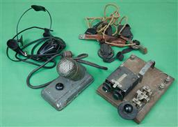 Sale 9103H - Lot 86 - A quantity of vintage morse code and voice relay equipment.