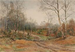 Sale 9150 - Lot 597 - BENJAMIN JOHN OTTEWELL (1960 - 1937) - Country Track, Donside, Aberdeenshire, Scotland, 1889 46 x 65.5 cm (frame: 68 x 85 x 2 cm)