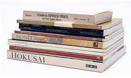 Sale 9170H - Lot 7 - A collection of Japanese art reference books including Hokusai