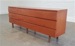 Sale 9188 - Lot 1290 - Timber 9 drawer sideboard (h68 x w179 x d37cm)
