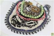 Sale 8563 - Lot 107 - Costume Jewellery including Lapis, cloisonne and howlite beads, and Witchery Necklace.