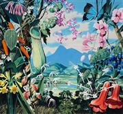 Sale 8943A - Lot 5010 - Ralph Malcolm Warner (1902 - 1966) - Queensland - Australia's Tropical Paradise, c1959 gouache