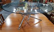 Sale 8984 - Lot 1019 - Chrome Based Theodore Waddell Tensegrity Table for Cassina with Round Glass Top (H:42 x D:100cm)