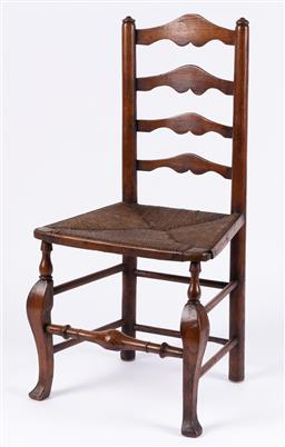 Sale 9190H - Lot 450 - Provincial ladderback chair, Height of back 95cm